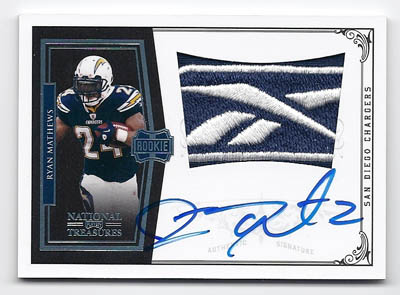 Big Time Hits: 2010 National Treasures Football  57