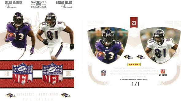 Big Time Hits: 2010 National Treasures Football  50