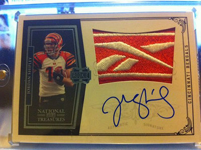 Big Time Hits: 2010 National Treasures Football  25