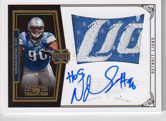 Big Time Hits: 2010 National Treasures Football  65