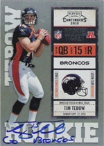 Panini Confirms 2010 Playoff Contenders Tim Tebow Inscription Variations 1