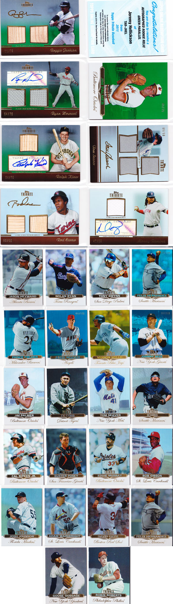 2011 Topps Tribute Baseball Review 12