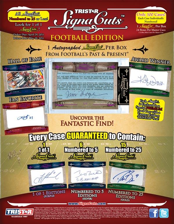 2011 TriStar Signa Cuts Football  2