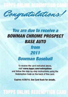 Topps Reveals 2011 Bowman Baseball Autograph Redemptions 1