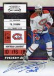 Panini Releases 2010-11 Playoff Contenders Hockey Rookie Short Prints 6