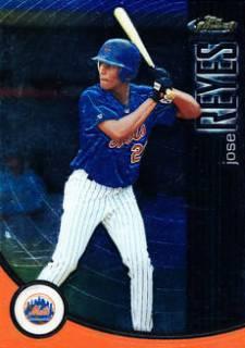 2001 Finest Jose Reyes Rookie Card #/999