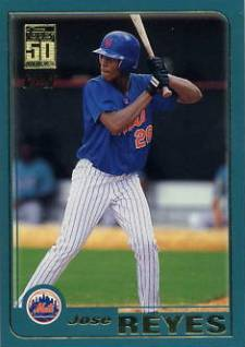 2001 Topps Traded Jose Reyes Rookie Card