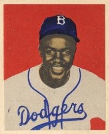 1949 Bowman Jackie Robinson Rookie Card