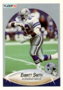 Emmitt Smith Cards, Rookie Cards Checklist and Autograph Memorabilia Guide 2