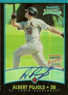 2001 Bowman Chrome Autographs Albert Pujols Rookie Card (/500)