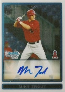 2009 Bowman Chrome Draft Prospects Autographs Mike Trout