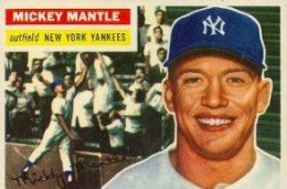 30 1956 Topps Mickey Mantle
