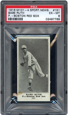 Babe Ruth Rookie Card Sells for $100,000 1