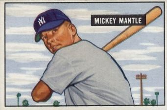 1951 Bowman Mickey Mantle Rookie Card1 Image