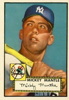 1952 Topps Mickey Mantle1 Image