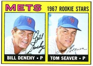 1967 Topps Baseball Tom Seaver and Bill Denhey