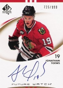 2007-08 SP Authentic Hockey Jonathan Toews (/999)