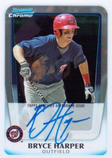 The Bryce Harper Visual Guide to 2011 Bowman Chrome Baseball 2