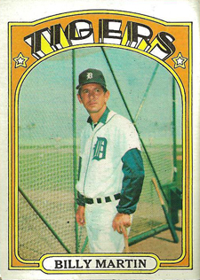 Funny Trading Cards - 1972 Topps Baseball 33 Billy Martin