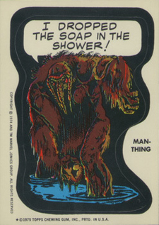 Funny Trading Cards - 1975 Topps Comic Book Heroes Man-Thing