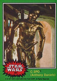Funny Trading Cards - 1977 Topps Star Wars 207 C-3P0 Obscene