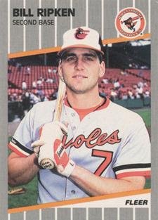 Funny Trading Cards - 1989 Fleer Baseball Billy Ripken F--k Face
