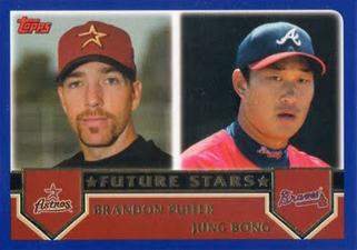 Funny Trading Cards - 2003 Topps Baseball Brandon Puffer and Jung Bong