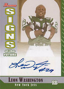 Funny Trading Cards - 2006 Bowman Football Signs of the Future Autographs Leon Washington