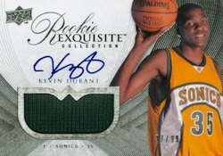 Kevin Durant Cards - 2007-08 Exquisite Kevin Durant RC