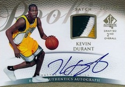 2007-08 SP Authentic Kevin Durant RC