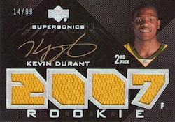 2007-08 UD Black Kevin Durant RC