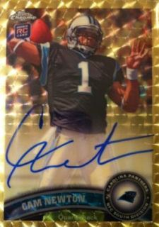 Two Cam Newton Autographed Superfractors Now Available on eBay 1