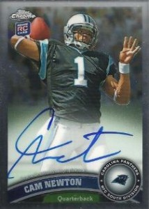 2011 Topps Chrome Football Autographs Cam Newton