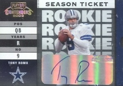 Tony Romo Football Cards, Rookie Cards and Autographed Memorabilia Guide 2