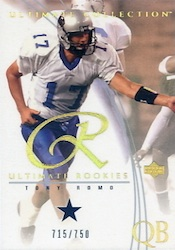 Tony Romo Football Cards, Rookie Cards and Autographed Memorabilia Guide 22