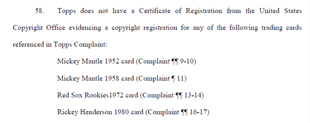 Law of Cards: Mickey Mantle in the Middle of Topps vs. Leaf Lawsuit 1