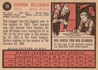 Topps Baseball Card Backs Image Gallery And History