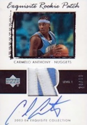 Carmelo Anthony Card and Memorabilia Guide 1