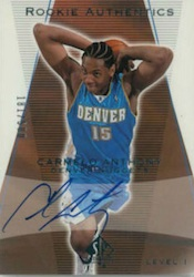 Top 10 Carmelo Anthony Rookie Cards 8