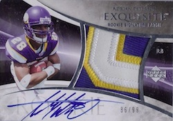 Adrian Peterson cards - 2007 Exquisite Adrian Peterson RC