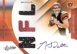 Andy Dalton Cards, Rookie Card Checklist and Autographed Memorabilia Guide 3