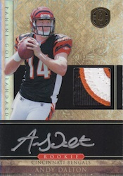 Andy Dalton Cards, Rookie Card Checklist and Autographed Memorabilia Guide 24