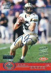 Drew Brees Rookie Cards Checklist and Autographed Memorabilia Guide 24