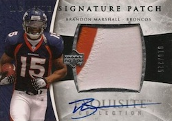 Brandon Marshall Cards and Memorabilia Guide 2