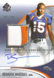 Brandon Marshall Cards and Memorabilia Guide 3