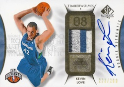 Kevin Love Cards and Memorabilia Guide 3