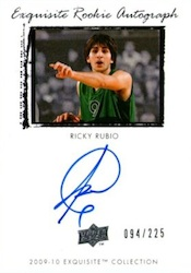 Ricky Rubio Rookie Cards and Autograph Memorabilia Guide 23