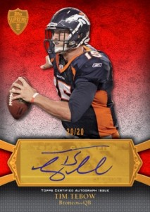 Tim Tebow Autographs Added to 2011 Topps Precision Football 1