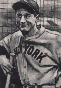Unique Lou Gehrig Sketch Card Raises Funds for ALS 1