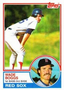 1983 Topps Baseball Wade Boggs RC